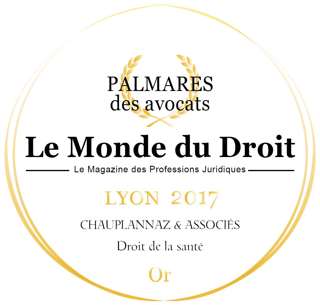 23/11/2017 – PALMARÈS DES AVOCATS LYON 2017